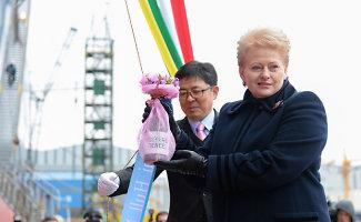 """Dalia Grybauskaitė: """"Gazprom"""" nebegalės diktuoti politinių kainų"""