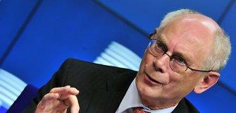 H.V.Rompuy teigia, kad situacija Ukrainoje nebegali būti sureguliuota politinėmis priemonėmis