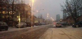 """Nufilmuota: """"išprotėjusios"""" apšvietimo lempos Vilniuje"""