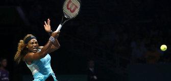 Serena Williams pergale pradėjo geriausiųjų sezono žaidėjų turnyrą Singapūre