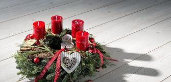 Ruošiamės Kalėdoms: advento vainiko idėjos