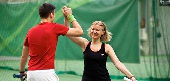 Kalėdiniam mišriųjų dvejetų teniso turnyre rekordinis dalyvių skaičius