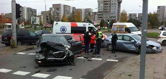 Kas trečias avariją Vilniuje sukėlęs vairuotojas – ne sostinės gyventojas