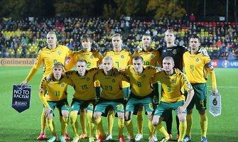 Lietuvos futbolo rinktinė prasibrovė į FIFA šimtuką