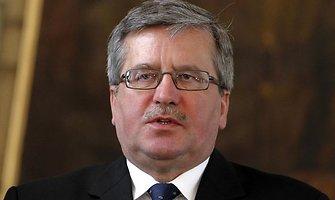 Bronislawas Komorowskis: NATO reikalinga nauja strategija