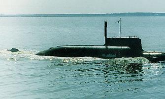 Netoli Latvijos teritorinių vandenų – Rusijos povandeninis laivas