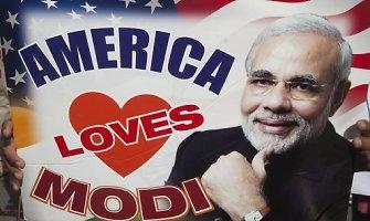 Pasninkaujantis Indijos premjeras Narendras Modis Baltuosiuose rūmuose susitiko su Baracku Obama