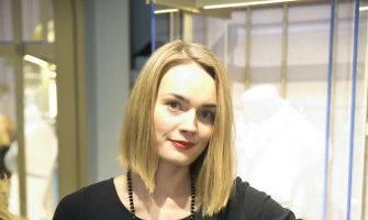 Prabangių apatinių salono atidarymo nepraleido ir šukuoseną pakeitusi Jurgita Jurkutė
