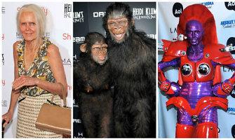 Originaliausi supermodelio Heidi Klum Helovino kostiumai: nuo robotės iki beždžionės