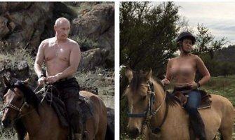 """""""Instagram"""" pašalino Chelsea Handler nuotrauką, kurioje ji nuoga kopijavo Vladimirą Putiną"""