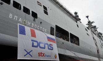 """Prancūzijoje apvogtas Rusijos užsakymu pastatytas """"Mistral"""" klasės laivas """"Vladivostok"""""""