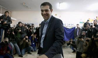 Graikijos rinkimus laimėjęs kairiųjų lyderis žada atsisakyti griežto taupymo