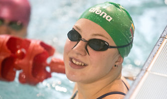 Rūta Meilutytė Lietuvos čempionate jau iškovojo du aukso medalius