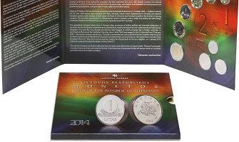Išleistas litui skirtas numizmatinių apyvartinių monetų rinkinys