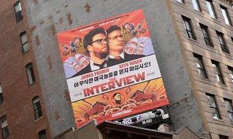 """""""Sony Pictures"""" ieško būdų parodyti Šiaurės Korėją pašiepiančią komediją """"Interviu"""""""