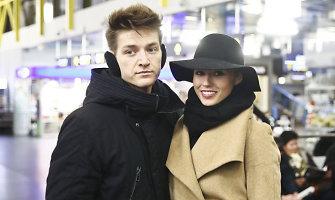 """Agnę Kavaliauskaitę į konkursą """"Mis World 2014"""" Londone išlydėjo mylimasis Tomas Legenzovas"""