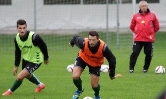 Lietuvos futbolo rinktinė pradėjo treniruočių stovyklą Bavarijoje