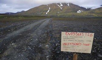 Islandijoje dėl naujo išsiveržimo netoli ugnikalnio – aukščiausias pavojaus aviacijai lygis