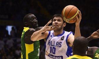 Graikai pasaulio krepšinio čempionate vargo su Senegalu neturėjo