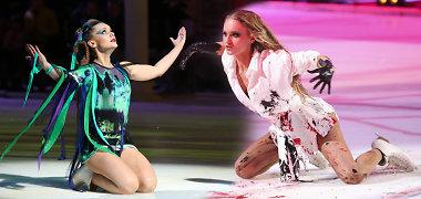 """""""Šokių ant ledo"""" skandalas: Astos Žukaitės bičiuliai dėl intrigų kaltina Gintarę Gurevičiūtę, ši įsitikinusi – varžovai taip siekia naudos"""