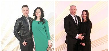 Besilaukiančios Živilė Vaškytė ir Jurgita Krivickienė ant raudonojo kilimo spindėjo elegancija