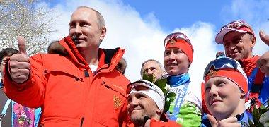 Rusijos prezidentas Vladimiras Putinas pasveikino auksą Sočio parolimpinėse žaidynėse iškovojusius tautiečius