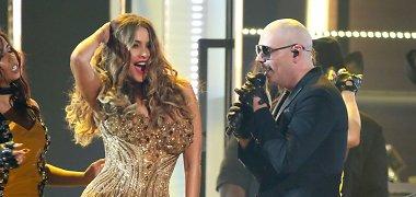 """""""Grammy"""" staigmena – energingas aktorės Sofios Vergaros šokis ant scenos"""
