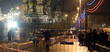 Televizijos kanalas išplatino saugumo kamera darytą Boriso Nemcovo nužudymo vaizdo įrašą