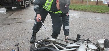 Panevėžyje tragiškai pasibaigusios motociklo ir sunkvežimio avarijos kaltininkas lieka neaiškus