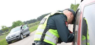 Reidas Vilniaus pakraštyje: policija persekiojo įtartinus vairuotojus