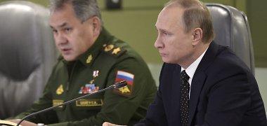 Ar Rusijos prezidentas Vladimiras Putinas parodys pirštu į Sergejų Šoigu?