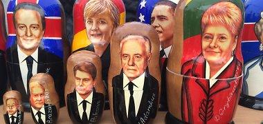 Kiek Kaziuko mugėje kainuoja Rolando Pakso arba Dalios Grybauskaitės matrioškos?