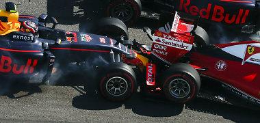 Ruso košmaras Sočio F-1 lenktynėse: dukart taranavo Sebastianą Vettelį ir sugadino intrigą