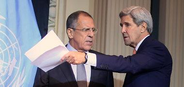 JAV diplomatijos vadovas Johnas Kerry vyks į Maskvą tartis dėl Sirijos