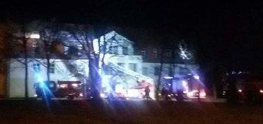 Gedminų dvare Klaipėdoje per Naujuosius kilęs gaisras didelių nuostolių nepadarė