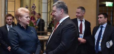 Prezidentė su Ukrainos prezidentu ir Gruzijos premjeru aptarė kliūtis šių šalių pažangai