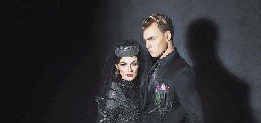 Aurelija Beliakaitė nuotakoms siūlo puoštis ekstravagantiškai: sukūrė juodą vestuvinę suknelę