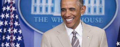 JAV prezidento Baracko Obamos kostiumas sukėlė apkalbų audrą