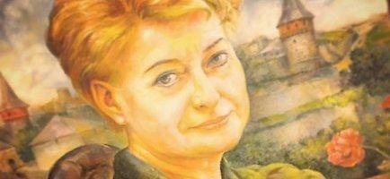 Karys iš Ukrainos nutapė Dalios Grybauskaitės portretą