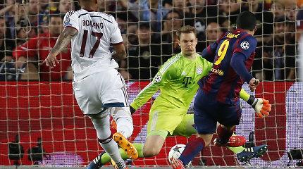 """Čempionų lygos pusfinalis """"Barcelona"""" – """"Bayern"""" 2:0 (vyksta antrasis kėlinys)"""