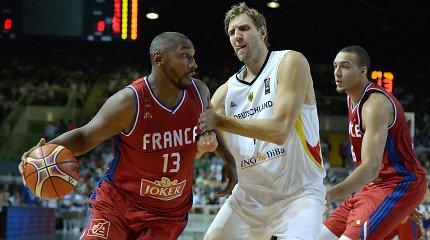 Prancūzija be vargo sutriuškino Vokietiją su Dirku Nowitzkiu