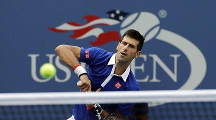 """Novakas Džokovičius """"US Open"""" starte žaibiškai nugalėjo Joao Souzą iš Brazilijos"""