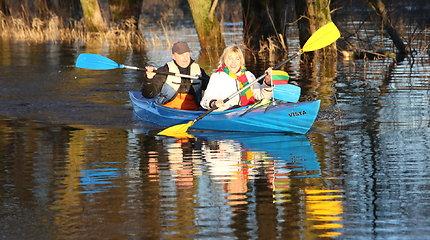 Vasario 16-oji potvynio užlietame pamaryje