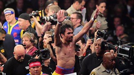 Prieš Manny Pacquiao sukilo ir žiūrovai – prašo 5 mln. dolerių už patirtus nuostolius