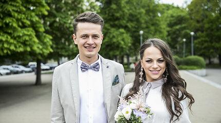 Pirmagimio besilaukianti Ineta Puzaraitė ištekėjo už Ąžuolo Žvagulio