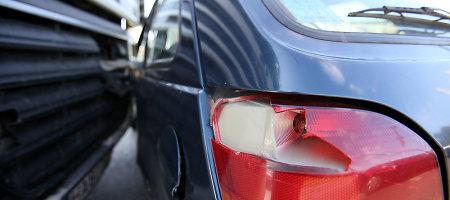 Vilniaus Geležinio vilko gatvėje susidūrė keturi automobiliai