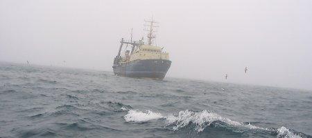 """Palydovinės nuotraukos rodo, kad Lietuvos laivas """"Jūrų vilkas"""" nekirto Rusijos sienos"""