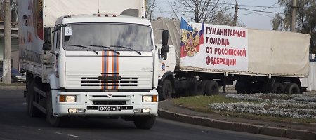 """Teroristai tęsia puolimą: evakuojamas Debalcevas, Ukrainos sieną kerta naujas """"pagalbos konvojus"""""""