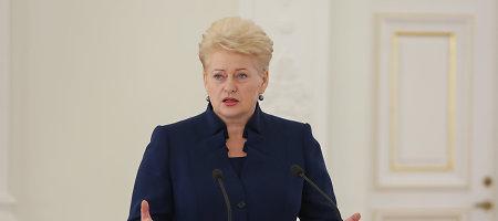 """Dalia Grybauskaitė: """"Rusija praktiškai kariauja su Europa"""""""