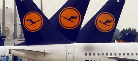 """Dėl """"Lufthansa"""" darbuotojų streiko atšaukiami skrydžiai Vilniuje"""